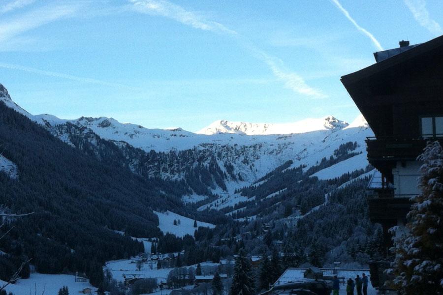 Wallegghof - Außenansicht im Winter